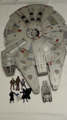 "HUGE Millennium Falcon 31"" x 24"" - Star Wars 2008 by Hasbro 6 figures"