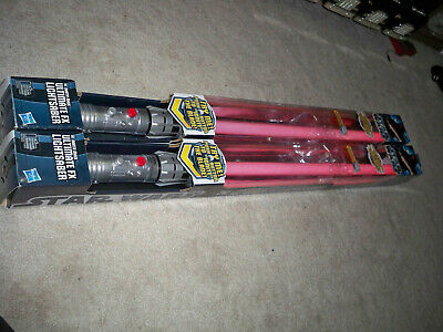 Ultimate FX Darth Maul Set of 2 Lightsabers in boxes used and 1 connector