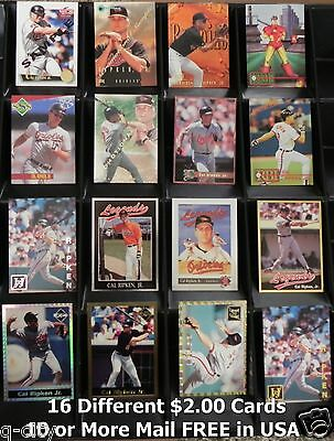 CAL RIPKEN Jr. _ 16 Different Cards _Choose 1 or More_ 10 Mail FREE Canada & USA