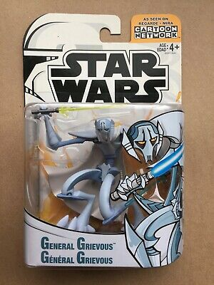 """Star Wars Clone Wars """"General Grievous"""" 3.75"""" Action Figure Moc 2005 Animated Tv"""