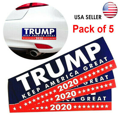 Pack of 5 Donald Trump Bumper Sticker 2020 Keep America Great US Seller