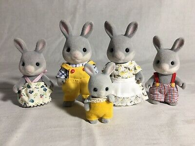 Calico critters/sylvanian families Cottontail Bunny family Of 5 Rabbits