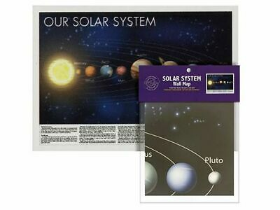 Our Solar System Space Universe 100Cm X 70Cm Wall Decor Poster Map