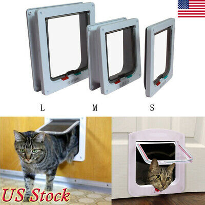 Dog Cat Pet Door Extra Large Medium Window Screen Flap Door Automatic Lock