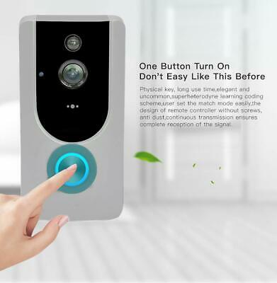 HD 720P Wifi Security Smart Doorbell Camera Video Playback PIR IR Night Vision W