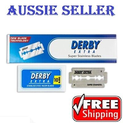 New Derby Extra Stainless Steel Double Edge Safety Razor Shaving Blades