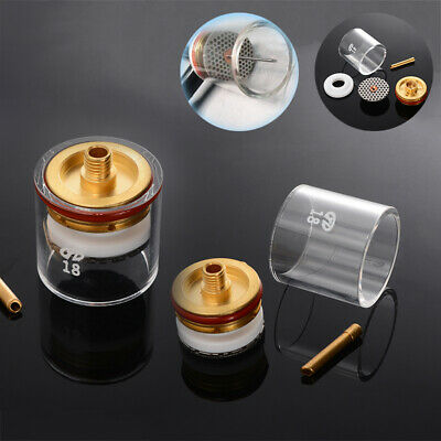 """5pc TIG Welding Torch Gas Saver Lens Pyrex Cup Kit Fit For WP-9/20/25 3/32"""""""