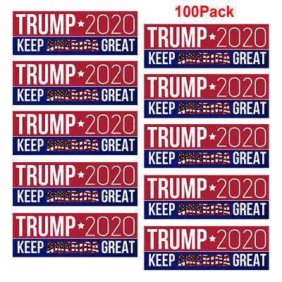 100Pack Donald Trump Bumper President Stickers 2020 Keep America Great