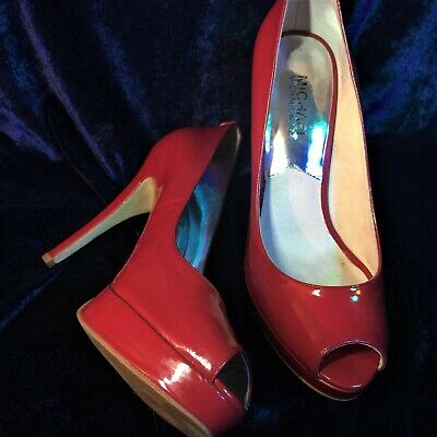 Michael Kors Red Patent Leather Stiletto Heels - Size 6.5