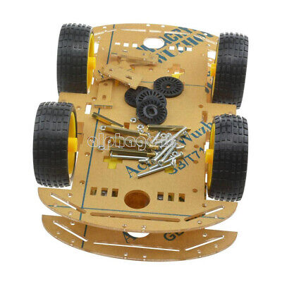 2WD 4WD Robot Smart Car Chassis Kits Speed Encoder 65x26mm Tire for Arduino NEW