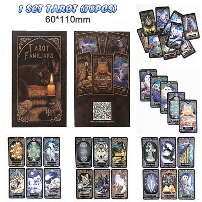 AU 78pcs/set Tarot Cards Lisa Parker Familiar Gothic Fantasy Deck Telling Future