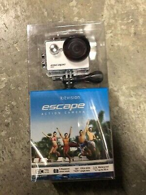 Kitvision Escape HD5 720p Waterproof Action Camera with Accessories - White
