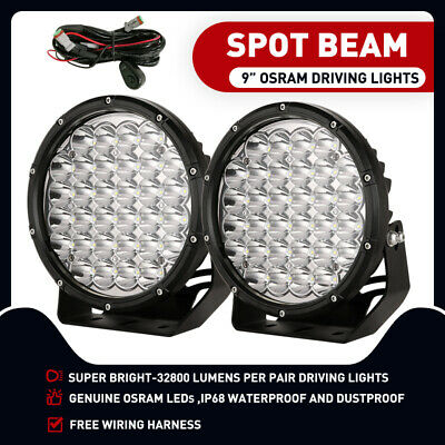 9 inch 99999W ROUND LED SPOT Driving Lights OSRAM Off Road Spotlights Foglight