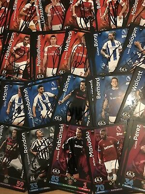match attax 2018-2019 signed cards