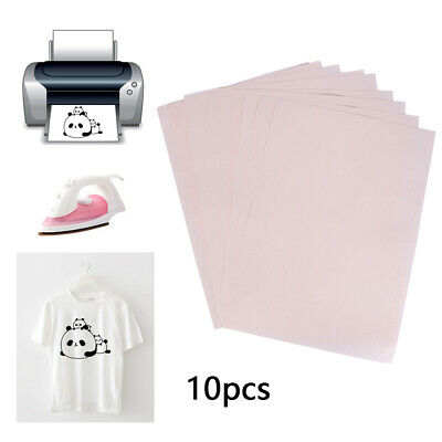 10Pcs A4 Heat Transfer Painting Paper DIY T-Shirt Clothes Iron-On Painted Paper