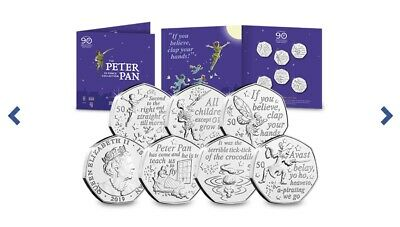 Peter Pan 50p Set uncirculated fifty pence. Limited Edition