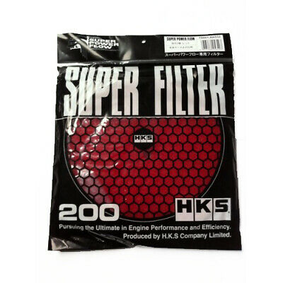 HKS Super Power Flow Air Filter Replacement 200mm RED
