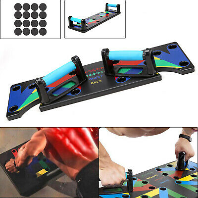9 in1 Pushup Stands Workout Train Gym Exercise Rack Board System Fitness Push Up