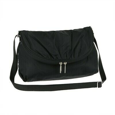 LeSportsac Classic Solid Collection Samantha Crossbody Bag in Black NWT