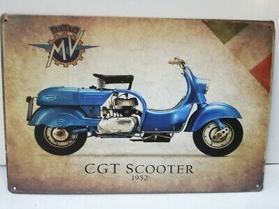 Rare plaque tôle 20X30 MV AGUSTA CGT SCOOTER 1952 moto vintage style email