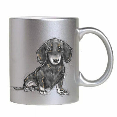Silver Dachshund Mug for The Owner Lover
