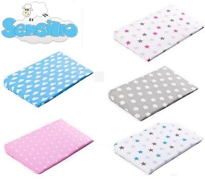 Baby PILLOW CASE For Cot Bed Crib Prevents Reflux Colic & fllat head Newborn
