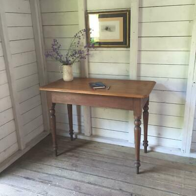 Elegant Antique Victorian Pine Writing Table Office Console Hall Side Homework