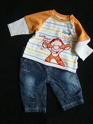 Baby clothes BOY 3-6m NEW Disney Tigger outfit NEXT lined jeans, LS top SEE SHOP