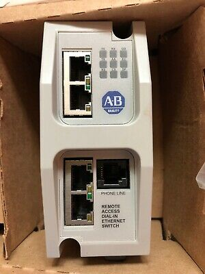 New Allen-Bradley 9300-RADES Ethernet Modem Remote Access Dial-In Connection