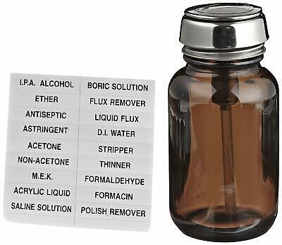 12 PACK 2 oz Amber Bottles Glass Bottles Boston Round with Black Poly Cone Cap