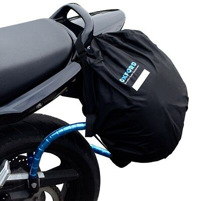 Oxford Lid Locker Lockable Motorbike Helmet Bag Motorcycle Luggage Pack Black