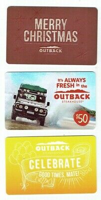 OUTBACK STEAKHOUSE Collectible Gift Cards - LOT of 3 Diff Cards - No Value