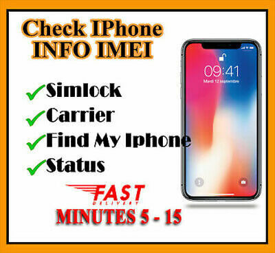 Apple iPhone Carrier Check SIM Lock Status/Carrier/Network [GSX Report] INSTANT