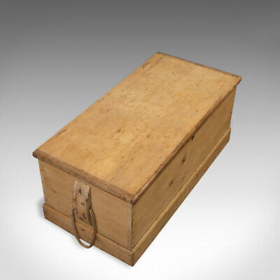 Antique Shipwrights Chest, Victorian Coffer, English, Mid 19th Century, 1850