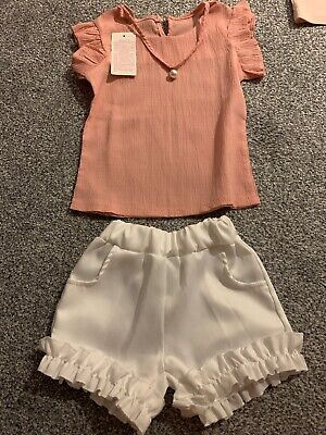 Girls 3-4 Shorts Set Bnwt Top May Fit Bigger
