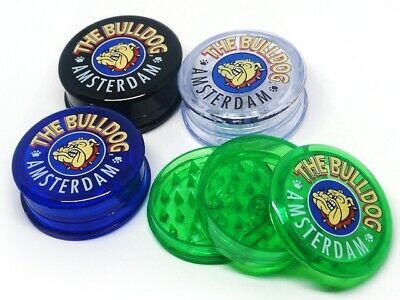 THE BULLDOG PLASTIC GRINDER 3 PART 60MM SHARK TEETH GRINDER HERB TOBACCO 4 color