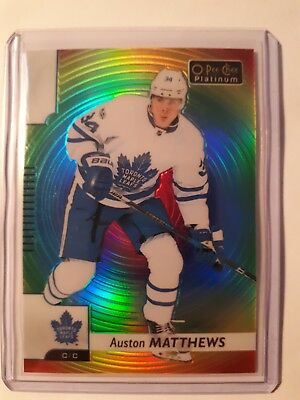 2017-18 OPC Platinum Rainbow Color Wheel Auston Matthews Toronto Maple Leafs