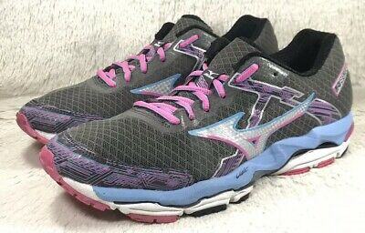 mizuno womens running shoes size 8.5 in europe gray line
