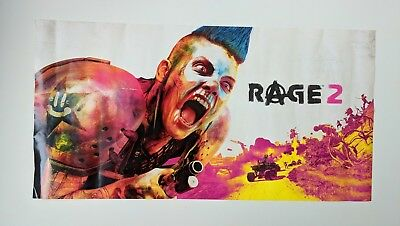 RAGE 2 Game Promo POSTER Xbox One Playstation 4
