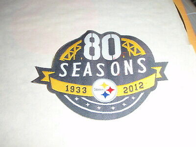 NFL PITTSBURGH STEELERS 80th SEASONS SUPERBOWL FOOTBALL JERSEY PATCH