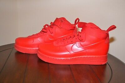 NEW NIKE AIR Force 1 Foamposite Cup NA University Red Black