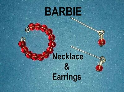 New Barbie Doll clothes Jewellery necklace earrings accessories evening outfit