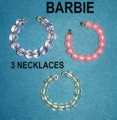 New Barbie Doll clothes Jewellery 3 necklaces accessories evening outfit