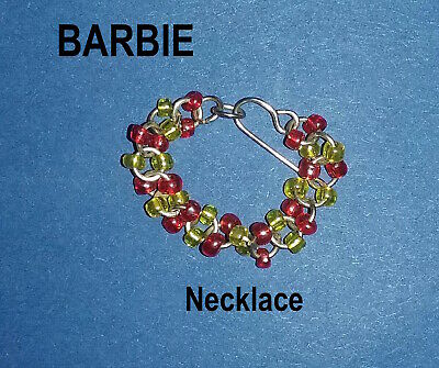 New Barbie Doll clothes Jewellery 1 x necklace accessories evening outfit