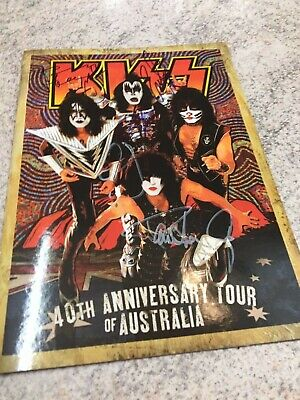 KISS TOUR BOOK Australia signed Autograph Paul Stanley, Gene Simmons ALL BAND
