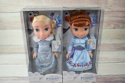 "Disney Olaf's Frozen Adventure Princess Elsa and Anna 14"" Toddler Doll"
