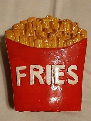 Very cool and Unique!! Vintage French Fries Bank Chalkware Retro Fred Roberts