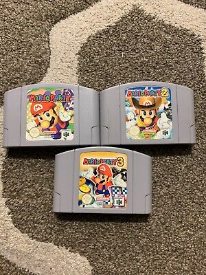 Nintendo 64 Game Mario Party 1 2 And 3 Wow!