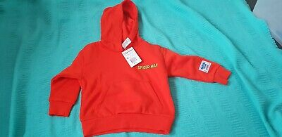 Bonds Spiderman Marvel jumper hoodie size 3 Nwt kids toddler small fit