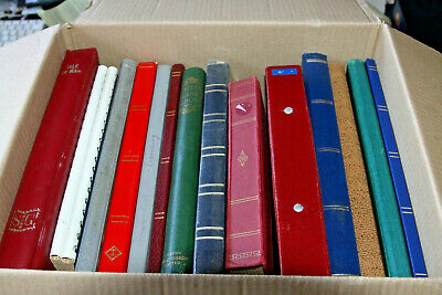 Box With 15 Large Collections Sold As One  Lot - Mint And Used All Eras
